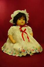 """DARLING ANTIQUE VINTAGE 17"""" COMPOSITION & CLOTH MAMA DOLL WITH MOHAIR WIG"""