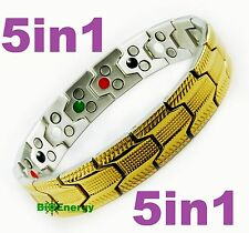 Magnetic Energy Germanium  Power Bracelet Health 5in1 Bio Armband TITANIUM steel