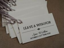 10 x Handmade Personalised Vintage Wishing Wish Tree Tags Wedding with ribbon