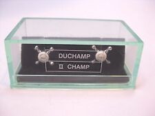 "DUCHAMP LONDON ""II CHAMP"" Hot & Cold Water Faucets Cufflinks in Green Box"