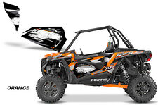 AMR Racing Graphic Wrap Kit Polaris RZR 1000 UTV OEM Door Inserts Universal ORNG