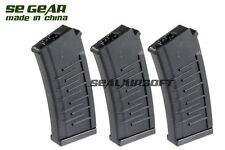 SE GEAR 250rd Airsoft Toy Magazine For AY S&T VSS AEG BK 3PCS SE-MAG-A024H-3PCS