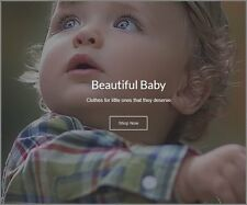 "Fully Stocked Dropship BABY PRODUCT Website High Profit ""300 Hits a Day"""