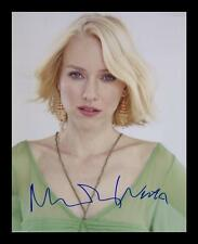 NAOMI WATTS AUTOGRAPHED SIGNED & FRAMED PP POSTER PHOTO