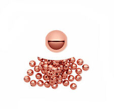 100 Genuine Copper Round Smooth Metal Beads 4mm