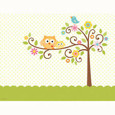 Baby Shower Decorations .. TABLE COVER .. Birthday Party .. Happi Tree Owl Print