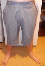 NWT MENS ABLANCHE FAUX LEATHER GREY SHORTS ZIP FRONT 3XL/ 38-40 WAIST/ GREAT BUY