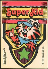 Kellogg Cereal Iron-on 1977 Super Kid w/ Tony the Tiger Jr. Decal