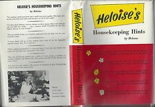 Heloise's housekeeping hints by heloise prentice hall 1962 hc/dj clean book!