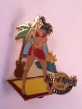 Hard Rock Cafe Pin Marbella Beach Bikini Girl with Palm Tree Guitar 2009