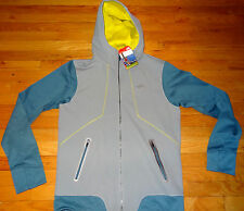 NWT NEW $130 The North Face Men's Kilowatt Hoodie Jacket M GREY BLUE MEDIUM