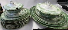 Victorian Dinner, Meat Plates and Tureens, Dudson Wilcox & Till Ltd Green & Whit