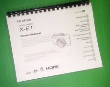 COLOR PRINTED Fujifilm Camera XE1 X-E1 Instruction Manual Guide 136 Pages