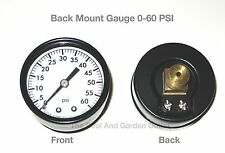 Swimming Pool Spa Pool Filter Replacement Back Mount Pressure Gauge 0-60 psi