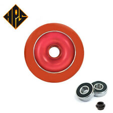 HPS 2X PRO STUNT SCOOTER RED SOLID METAL CORE WHEELS 110mm 88A ABEC 9 BEARING