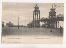 Scheveningen Wandelhoofd Koningin Wilhelmina Netherlands Postcard Trenkler 410b