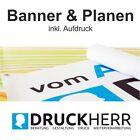 Werbebanner Messebanner Bauplane Plane bedruckt + Ösen PVC LKW Plane Messe