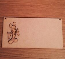 Wooden Plaque  200 X100 Mm .Mdf Blank With Mickey M.