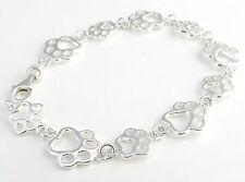 Beautiful Sterling Silver Paw Print Bracelet From Funky 925 Jewellery J151/7