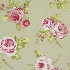 "Clarke and Clarke English Rose Sage Fabric 137cm/54"" wide"