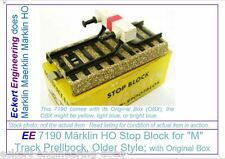 EE 7190 VG Very Good Marklin HO M Track Stop Block Prelbock Old Style wScrew OBX