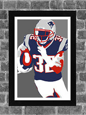 New England Patriots Devin McCourty Portrait Sports Print Art 11x17