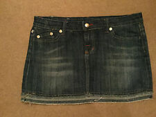 VICTORIA BECKHAM Rock & Republic Blue Denim Mini Skirt Size 29""