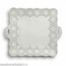 Arte Italica Merletto Antique Lace Square Serving Platter wHandles Made in Italy