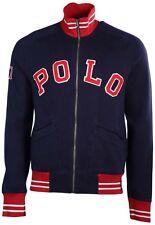 Polo Ralph Lauren Men's Cruise Navy 67 Full Zip Fleece Varsity Jacket Blue S