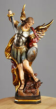WC012 Statue St Saint Michael Archangel Angel Painted Resin 12 In high Gift Box