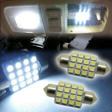 "2pcs White16-SMD 1.50"" 36mm LED Bulbs For Car License Plate Light JB-5"