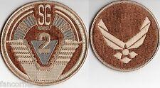 stargate sg1 lot 2 toppe SG2 e USAF versione deserto squadra patch lotto