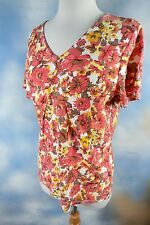 NEW HOT COTTON terra cotta tee 100% cotton Made in USA blouse top shirt tank M