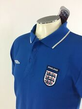 England National Football Team Umbro Polo Shirt M Blue Soccer 3 Lions NWT 5923