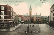 Louth,U.K.The Market Place,Lincolnshire,East Midlands,c.1909