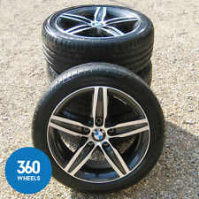 "GENUINE BMW 17"" 1 SERIES M SPORT 379 STAR SPOKE ALLOY WHEELS TYRES F20 F21 F22"