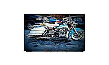 1966 Harley Davidson Electra Glide Bike Motorcycle A4 Photo Poster