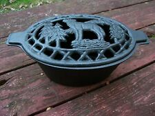 WOLF Cast Iron Wood Stove Steamer / Humidifier for woodstove steam pot heater