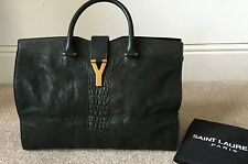 "Saint LAURENT YSL Cabas chyc ""Y"" In Pelle Grande Tote Bag"