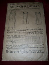 """RARE - YEAR 1899 - BUTTERICK #9222 - LADIES FRENCH CHEMISE PATTERN - BUST 42"""""""