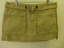 womens 10 thick AE AMERICAN EAGLE lite khaki mini short skirt daisly dukes clean