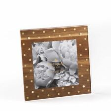 """KATE SPADE - Strike Gold Acrylic and Wood Picture Frame - 4"""" x 4"""""""