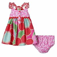 NEW NWT Bonnie Jean Baby Toddler Girl Pattern Flower Racerback Dress 12 18 24 mo