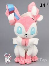 New Pokemon X Y Eevee Sylveon Plush Soft Toy Stuffed Doll 14'' Sitting Big