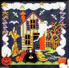 "Mill Hill Buttons & Beads Counted Cross Stitch Kit 5"" x 5"" ~ BOO HOUSE #14-6204"