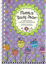 8/16 - 12/2017 MOM's BUSY YEAR 17-Month PLANNER Calendar Spiral STICKERS Notes