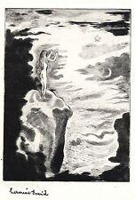 Hermine DAVID:très rare pointe sèche tirée à qqs exemplaires par H. David/1946/