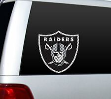 "BIG 12"" OAKLAND RAIDERS CAR HOME PERFORATED WINDOW FILM DECAL NFL FOOTBALL"