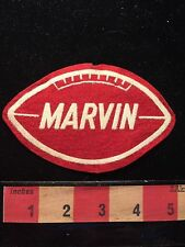 Vtg Felt RED FOOTBALL Patch With Name MARVIN 65SS