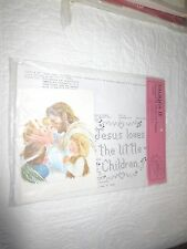"""Images II JESUS LOVES THE LITTLE CHILDREN Stamped Cross Stitch & PRINT-13"""" x 13"""""""